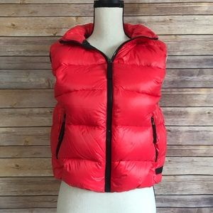 Calvin Klein Performance Red Hooded Puffer Vest